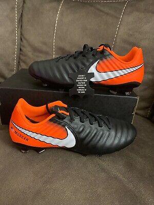 Nike iD Tiempo Ligera IV FG Soccer Cleats Blue/Black SZ 7 (Nike Mens Tiempo Ligera Iv Fg Soccer Cleats)