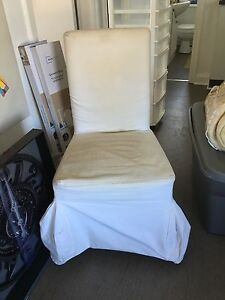 White ikea chair. Chair covers removable changeable