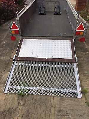 8 x 4  braked trailer with ramp