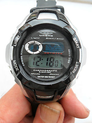UMBRO DIGITAL WATCH CHRONOGRAPH ALARM LIGHT SPORTS WRISTWATCH LADIES MENS U564B, used for sale  Shipping to South Africa