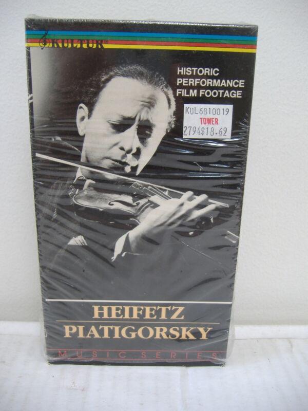 HEIFETZ and PIATIGORSKY - historic performance film footage (VHS)