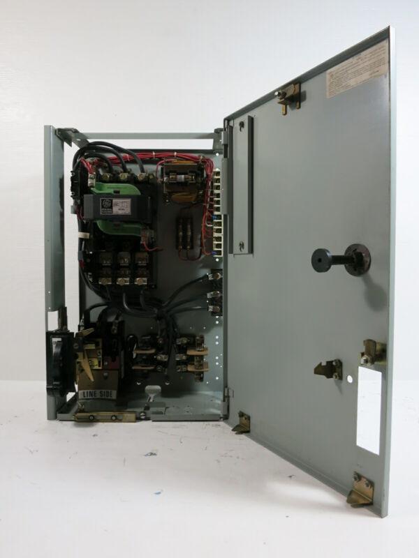"""General Electric GE 8000 Size 3 Starter 60 Amp Fusible 24"""" MCC Bucket w/ Door"""