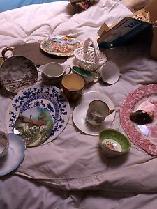 Vintage dishes , cups etc