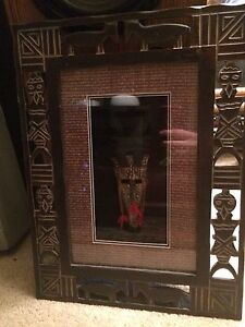 3D decorative wall art with frame