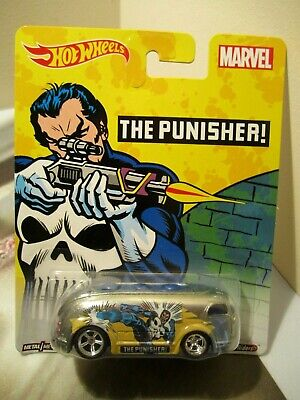 Hot Wheels Pop Culture Marvel The Punisher Haulin' Gas Bus Real Riders