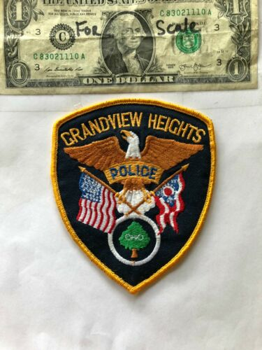 Grandview Heights Ohio Police Patch pre-sewn great shape