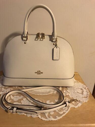 Coach New York Cream Satchel Handbag W/Gold Hardware/Shoulder Strap LNC  - $35.99