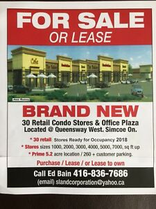 PRECONSTRUCTION SALE OF STORES SIMCOE ON LOW 200k'