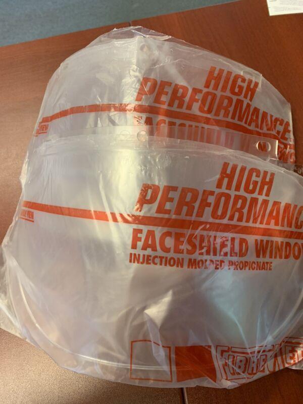 Qty 2 - New Honeywell Fibre-Metal 4168 Faceshield Clear - General Purpose