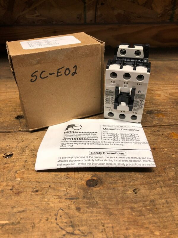 FUJI Electric Magnetic Contactor SC-E02, (NEW IN BOX)