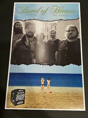 BAND OF HORSES Concert Poster KROQ Radio Red Bull Sound Space 8/29/16 LA