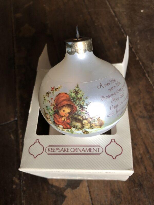 Hallmark Keepsake Ornament Mary Hamilton Vintage Glass Ornament With Box 1983