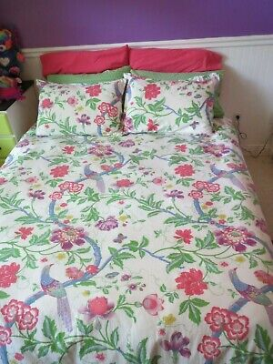 Land of Nod/Crate and Barrel Rainforest full/queen girls duvet bedding set kids