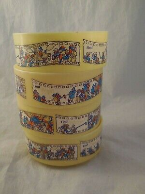 Used, 4 Quaker Oats Plastic Cereal Bowls Yellow 1994 for sale  Arlington