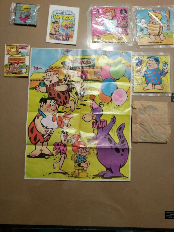 Fred flintstone cereal premiums from 1970s and early 80s