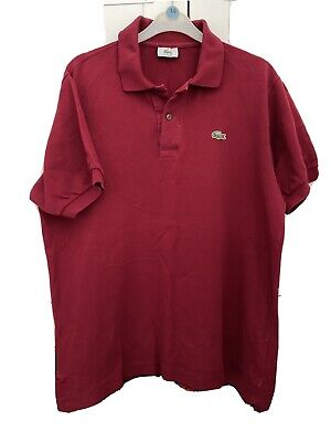 Mens Lacoste Polo Shirt Burgundy (size 5)