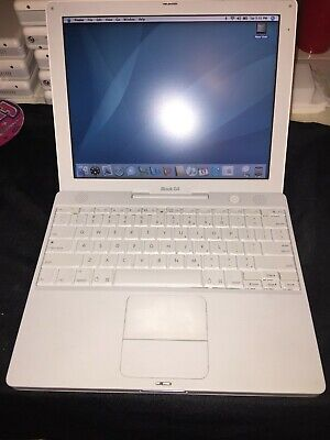 """Apple iBook g4 12.1"""" M9846LL/A Battery Good, Office 08, Charger Included, Clean!"""