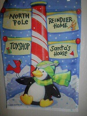 "North Pole Garden Flag 12"" X 18"" &"