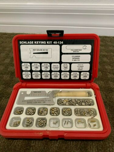 Schlage Mini Keying Kit - 40-134 Pin Kit Open Used Red Case