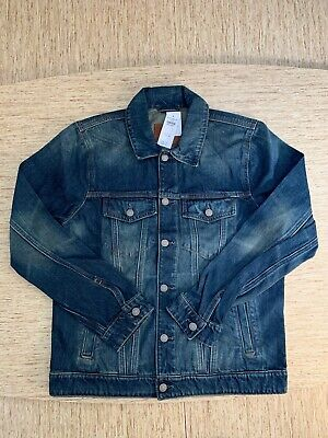 Men's Abercrombie A&F Denim Jacket Size Large Vintage Medium Wash - New With Tag