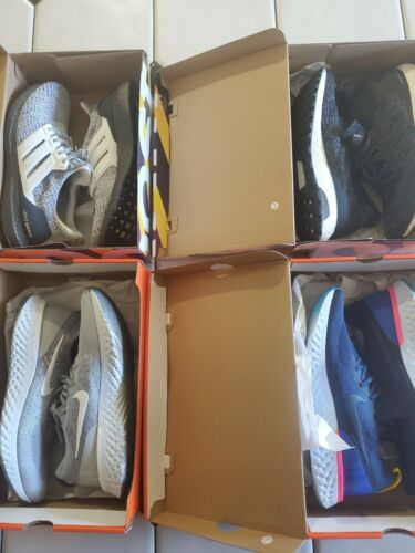 Nike Epic React and Adidas Ultra Boost Size 13 Sneaker bundle Four pairs!!!
