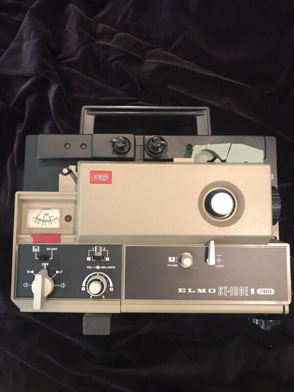 ELMO ST-180E SUPER 8MM MAGNETIC SOUND PROJECTOR