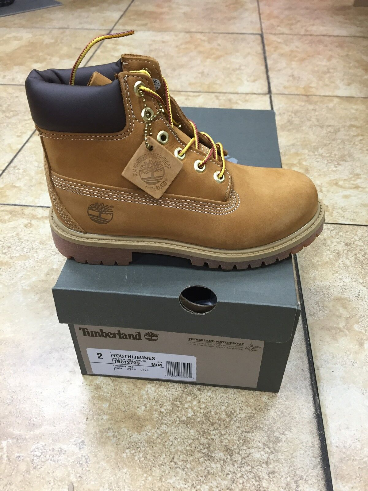 Timberland Boots Wheat Suede (little kids infant toddlers) 6 Inch Premium 12809