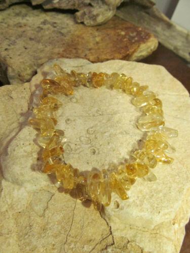 Vintage Genuine Citrine Beads Beaded Stretch Bracelet