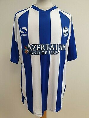 K350 MENS SONDICO BLUE WHITE SWFC AZERBAIJAN 2014-15 FOOTBALL SHIRT UK L EU 52 image