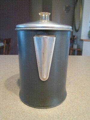 Vintage Aluminum  5-9 Cup Coffee Percolator  Complete Great for Camping