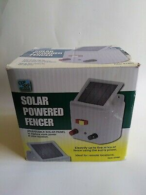 Solar Powered Electric Fencer Charger Farm Horses Cattle Adjustable Control