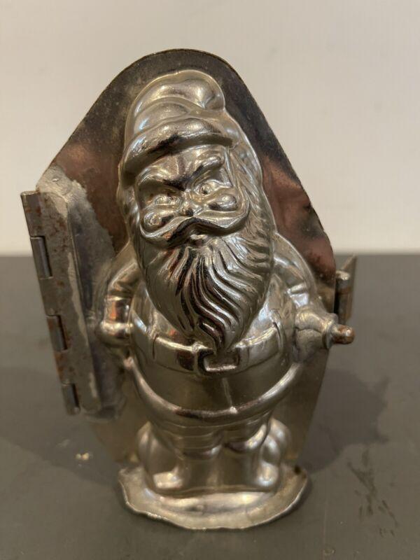 Vintage Gnome Chocolate Mold Metal Old Elf