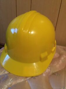 Yellow hard hat worn once !