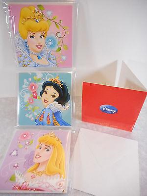Princess 12er Set Einladung Karte Glückwunsch Disney Deko GD 11552 F