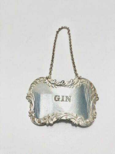 Sterling Silver GIN Decanter Tag