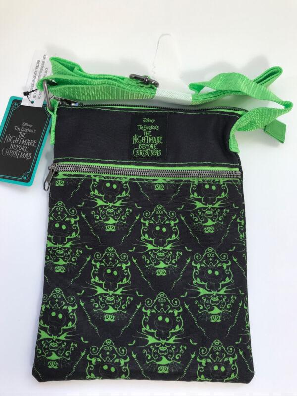 Loungefly Disney Nightmare Before Christmas Green & Black Passport Crossbody Bag