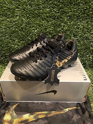 Nike Tiempo Legend VII 7 Elite FG Soccer Cleats Black Men's Size 6 AH7238-077