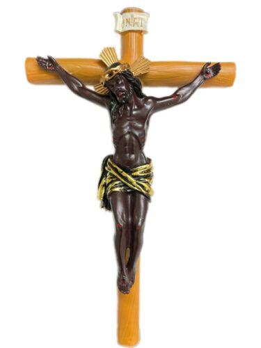 "Cristo Negro de Esquipulas en Santa Cruz 12"" Tall Polyresin"
