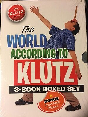 The World According to Klutz by John Cassidy NEW 3 Book SET Wrapped Paperback St