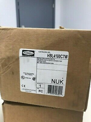 Hubbell Hbl4100c7w Pin And Sleeve Iec Connector 3 Pole 4 Wire 100a 480v
