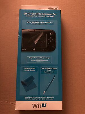 Official Nintendo Wii U Game Pad Accessory Set Brand New