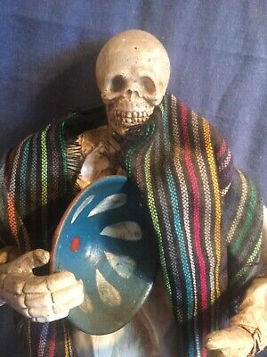 Genuine Day Of The Dead Figure From Matamoros Mexico