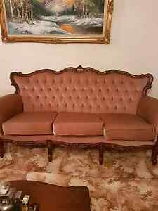 5 piece tan chesterfield velvet lounge suite Gulfview Heights Salisbury Area Preview