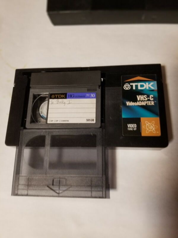 TDK VHS-C Video Adapter Video Cassette Adapter VHS-C to VHS VCR