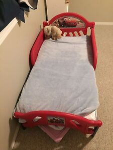 Cars toddler bed with  crib mattress