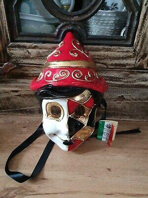 Mask Venice Pinocchio resin Carnival venetian costume child
