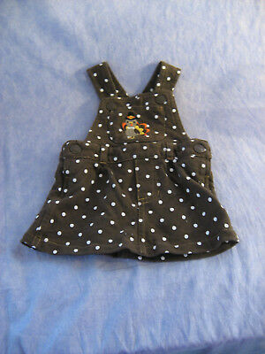 Carter's Thanksgiving Dress Jumper Turkey Polka Dots 3 Mos Mini