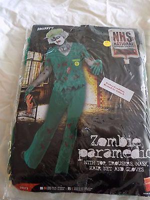Zombie Paramedic Adult Costume, Green, Large(42-44)](Paramedic Costume)