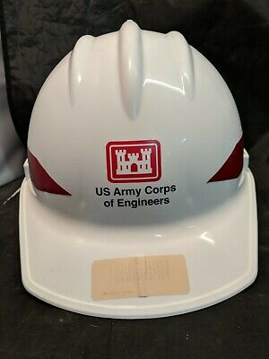 Vintage Ed Bullard Hard Boiled Plastic Safety Hard Hat Army Corps Of Engineers