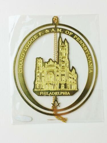 Metal GRAND LODGE Masonic CHRISTMAS ORNAMENT Philadelphia SEALED